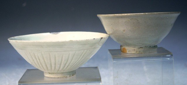 7: Lot of 2 Chinese Celadon Bowls - 4