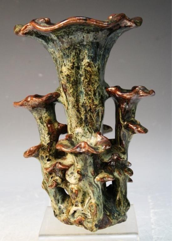 49: Chinese Ming Dynasty Tenmoku Glazed Flower Vase