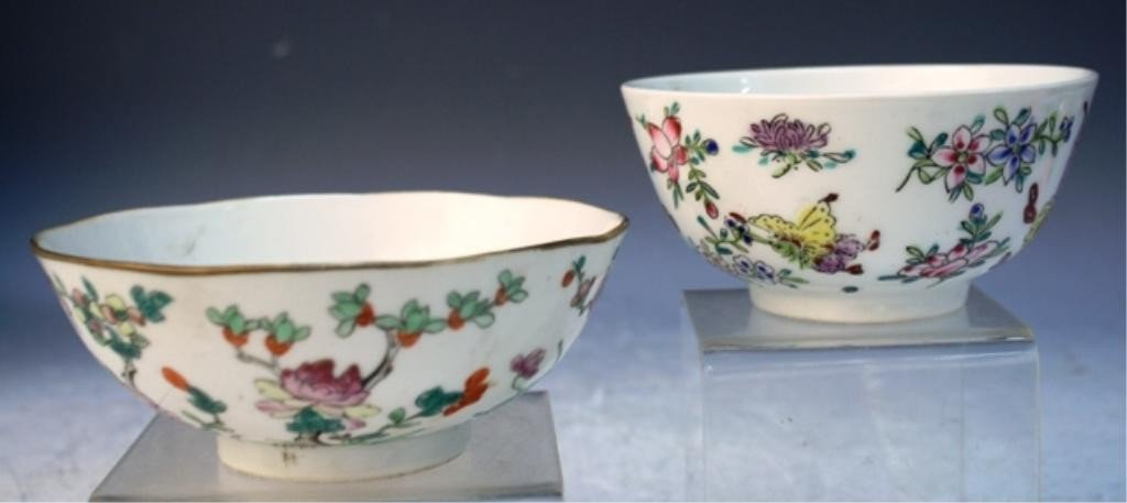 71: Lot of 2 Chinese Porcelain Bowls Republic Period