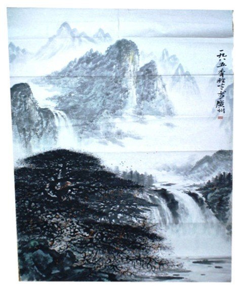 113: Chinese Unmounted Landscape Painting attr Li Shao
