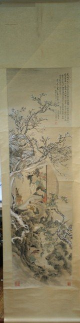 115: Chinese Painting of 2 Women attr. Sha Fu 19th C.