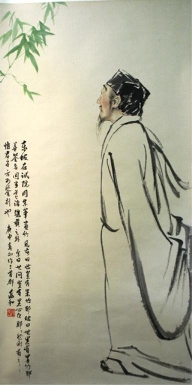 123: Chinese Painting by Jiang Zhaohe of Su Dongpuo