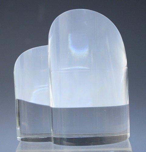 270: Steuben Glass Heart Paperweight - 4