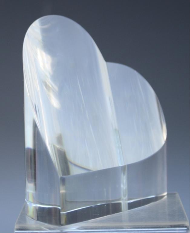 270: Steuben Glass Heart Paperweight - 7