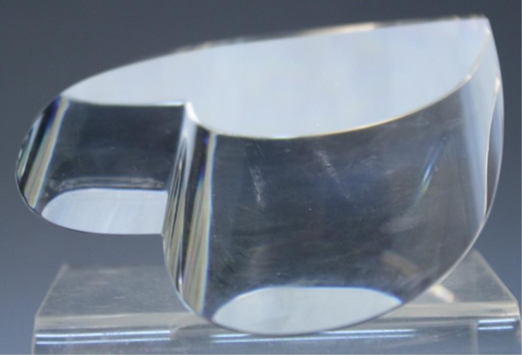 270: Steuben Glass Heart Paperweight - 8