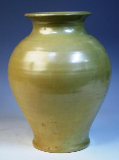 1: Cowan by Arthur E. Baggs Tan Ceramic Vase, 1927