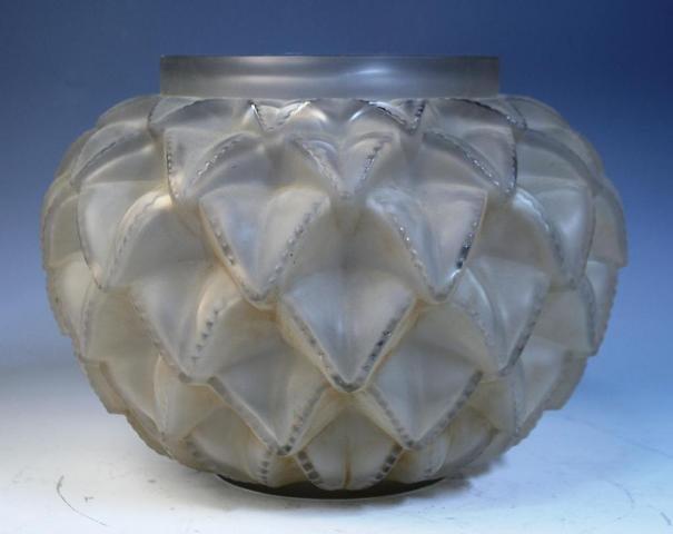 4: Rene Lalique Glass Pinecone Shaped Vase
