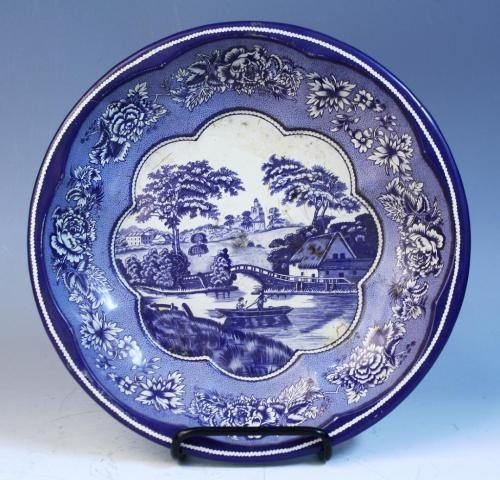23: Daher Decorated Ware Tin Blue & White Bowl