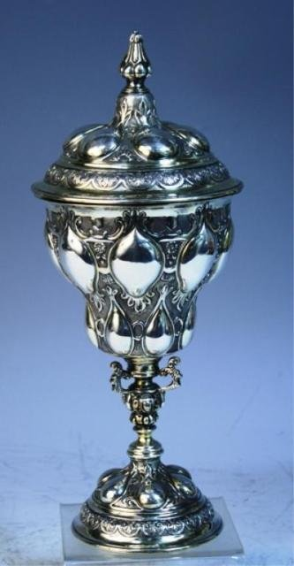 112: English Sterling Silver Art Nouveau Style Urn