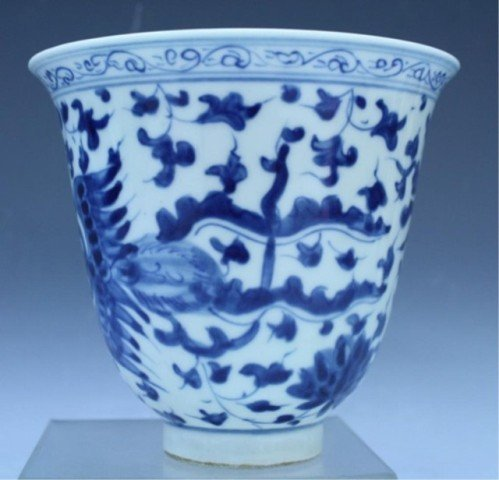 31: Chinese Blue & White Porcelain Dragon Vessel - 4