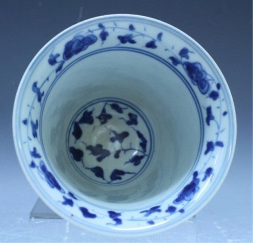 31: Chinese Blue & White Porcelain Dragon Vessel - 5