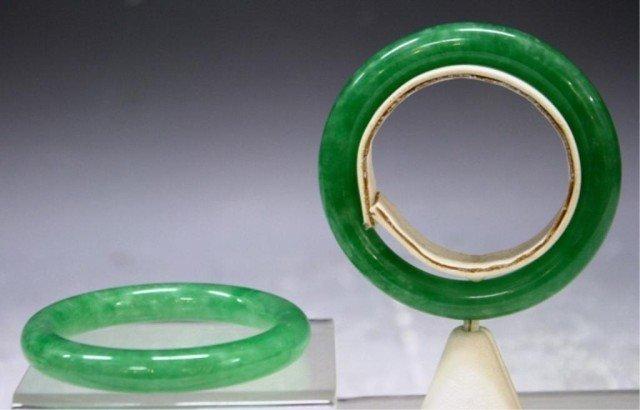 103: Pair of Chinese Jadeite Bangles