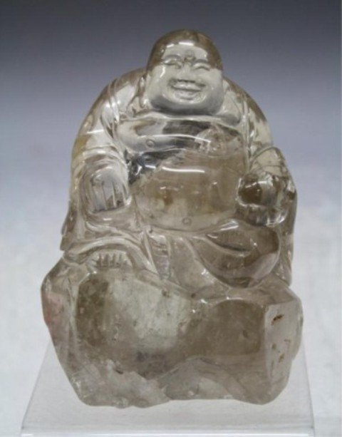 109: Chinese Carved Crystal Buddha