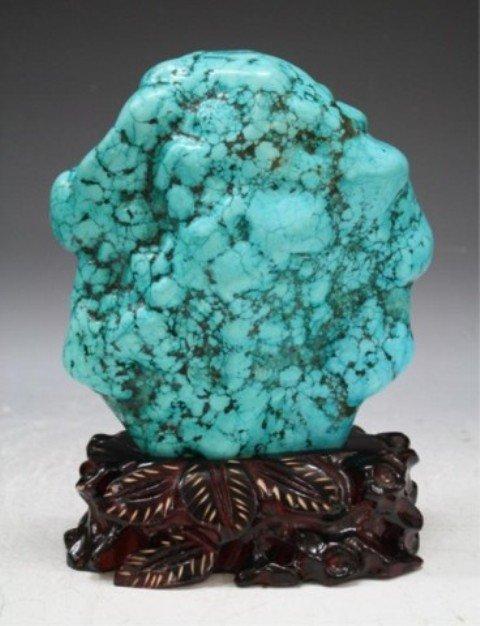 116: Chinese Large Turquoise Boulder