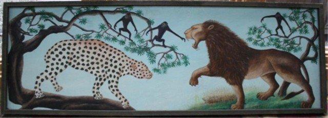 151: Haitian Jasmin Joseph Lion & Cheetah Ptg.