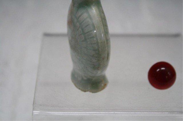 216: Chinese Celadon Glazed Snuff Bottle - 9