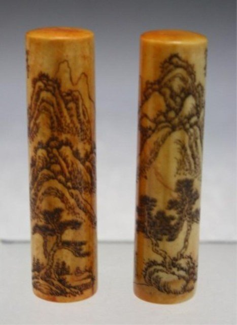 293: Chinese Pair of Soapstone Seals
