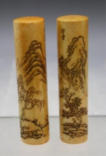 294: Chinese Pair of Soapstone Seals