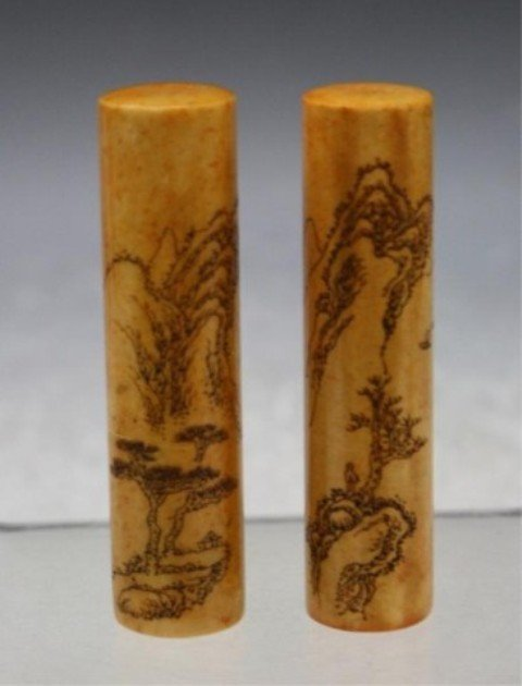 295: Chinese Pair of Soapstone Seals