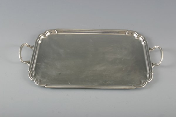 510: TIFFANY & CO. MAKERS STERLING TWO HANDLED TRAY APP