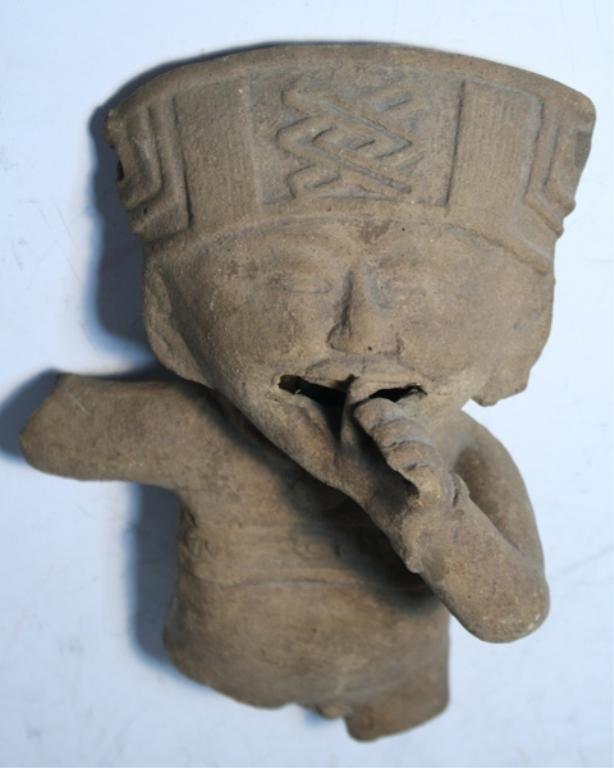 22: Pre-Columbian Terra Cotta Figure Veracruz