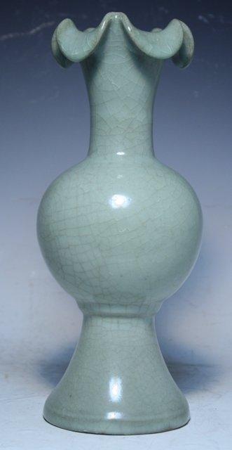 73: Chinese Celadon Footed Bottle Vase