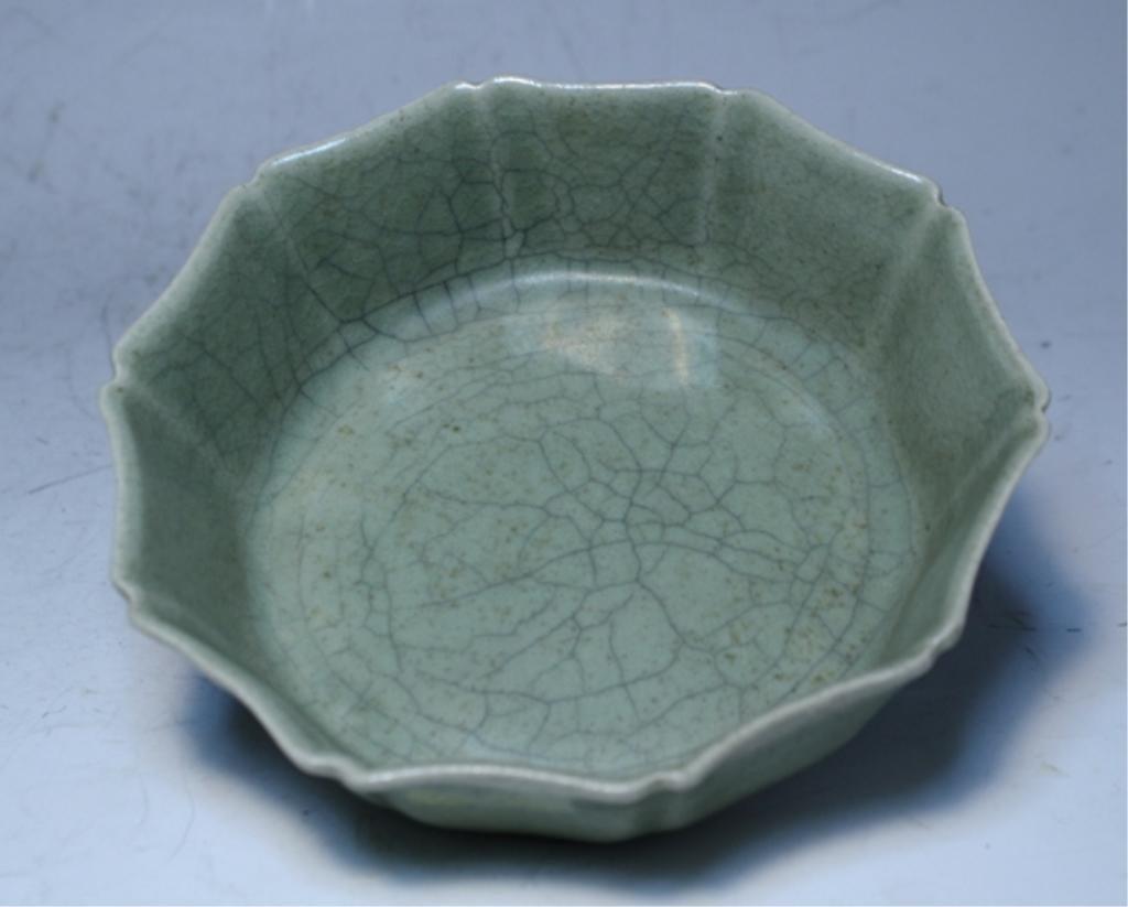 82: Chinese Celadon Octagonal Bowl
