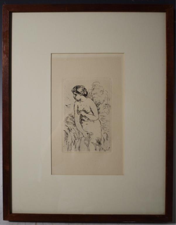 193: Renoir Etching of Female Nude