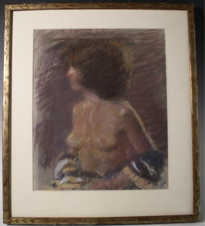 194: Raphael Soyer Pastel of Woman 1972