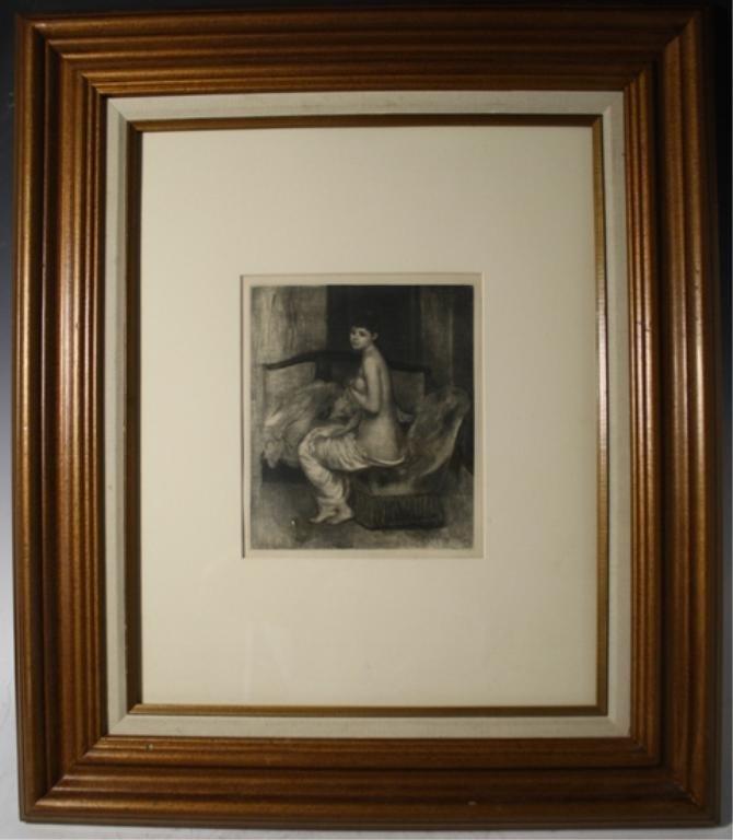 195: Renoir Etching of Female Nude