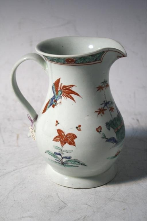 205: Japanese Multi-Colored Porcelain Pitcher