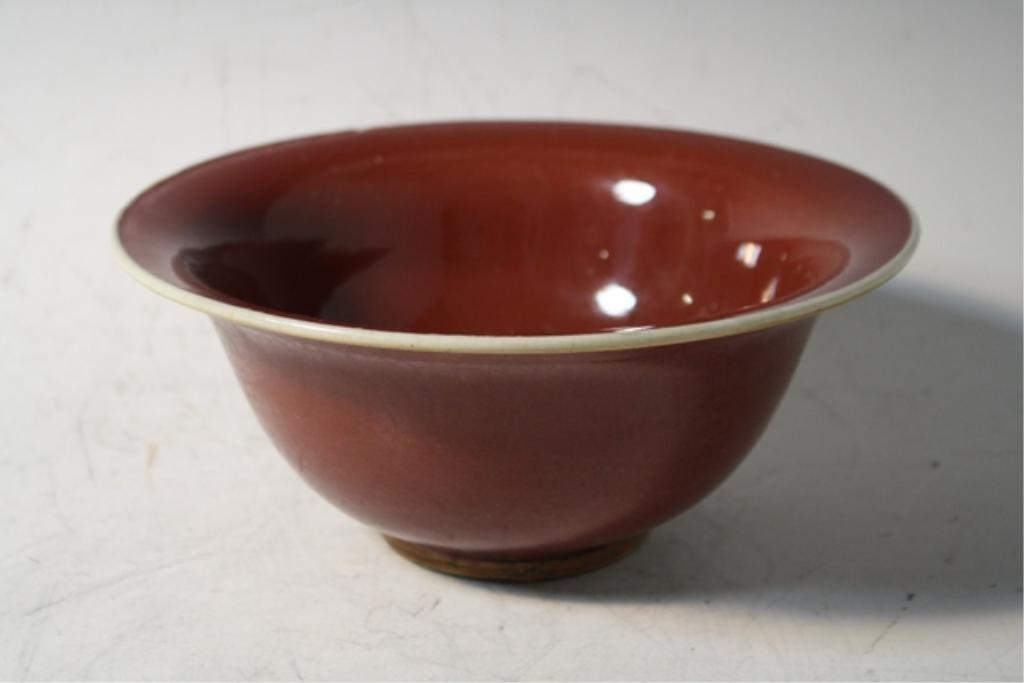207: Chinese Ox Blood Ceramic Bowl