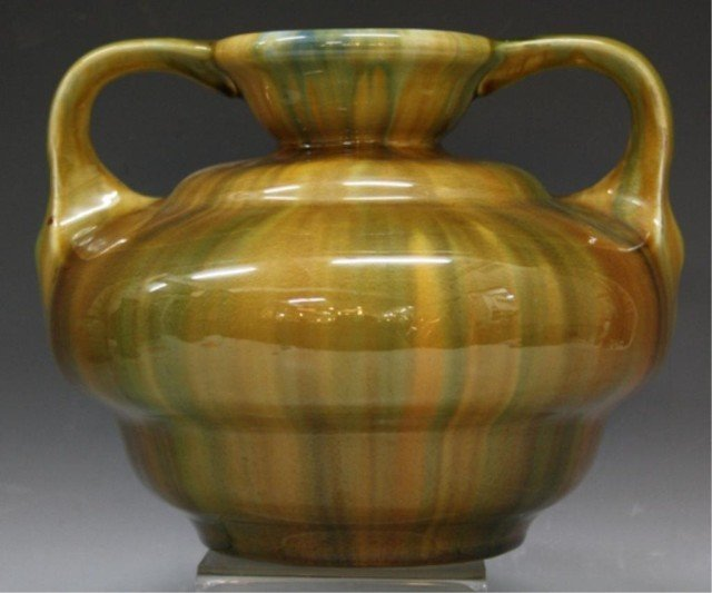 2: Wannopee Green Pottery Vase, c.1900