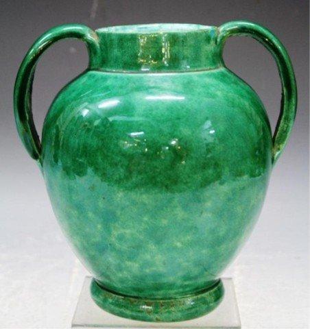 8: French J Massier Vallauris Pottery Vase