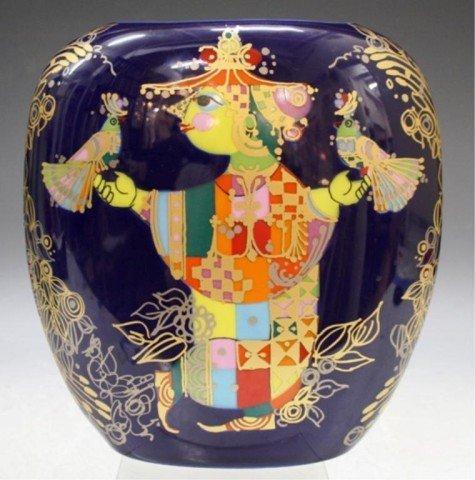 9: German Bjorn Wiinblad Rosenthal Porcelain Vase
