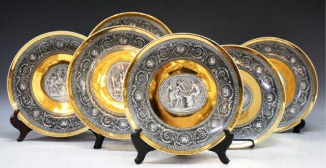 13: Set of 6 Fornasetti Italian Porcelain Plates