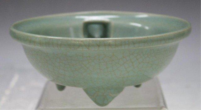 132: Chinese Guan Ware Tripod Bowl w/ Spout - 2