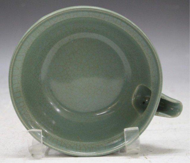 132: Chinese Guan Ware Tripod Bowl w/ Spout - 5