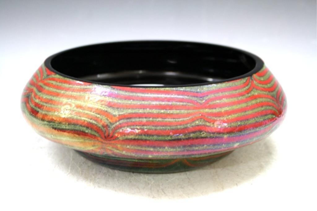 2: Metallic Glazed Ceramic Bowl 1950s