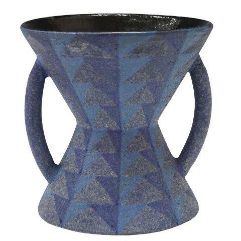 14: Large Italian Hourglass Shaped Vase w/ Handles