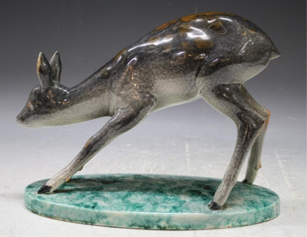16: Mid Century Porcelain Deer Possibly Italian