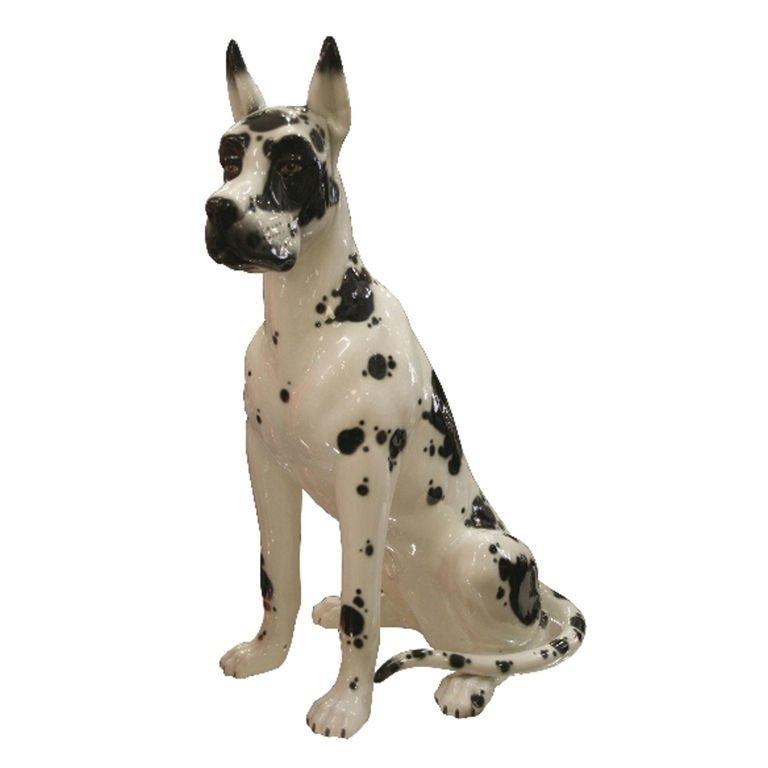 17: Ceramic Harlequin Dog Statue by DAISA Spanish 1984
