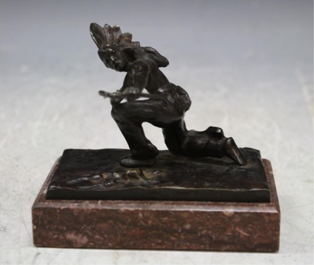 21: Bronze Kauba Indian Figurine Austrian 1920