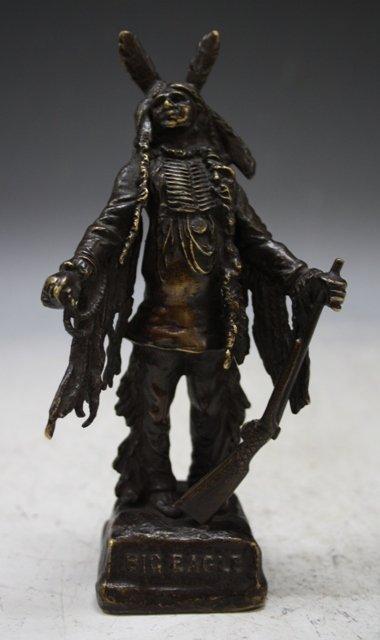 23: Bronze Kauba Standing Indian Figurine Austrian 20s