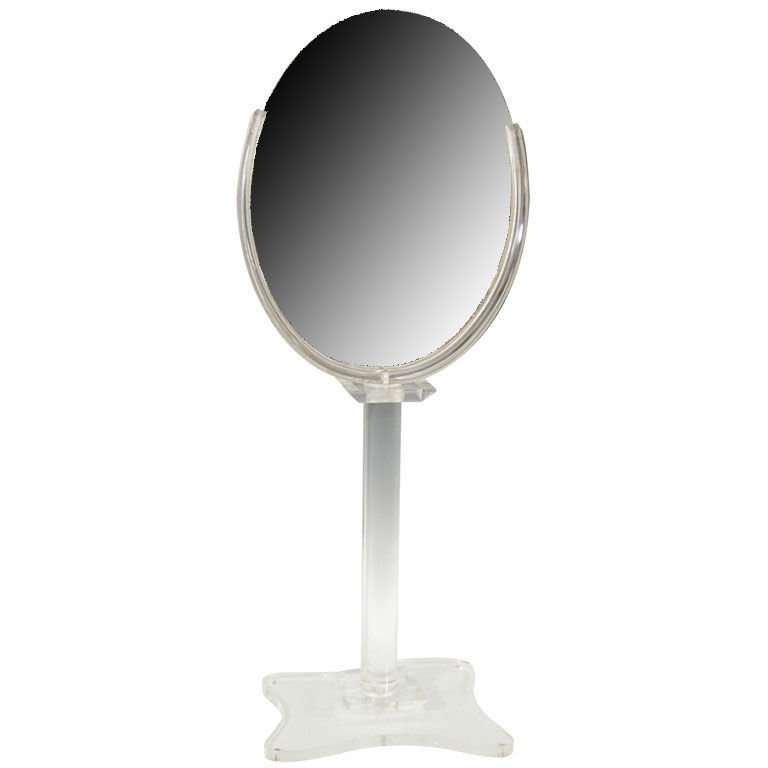 107: Mid Century Lucite Shaving Mirror 1960s