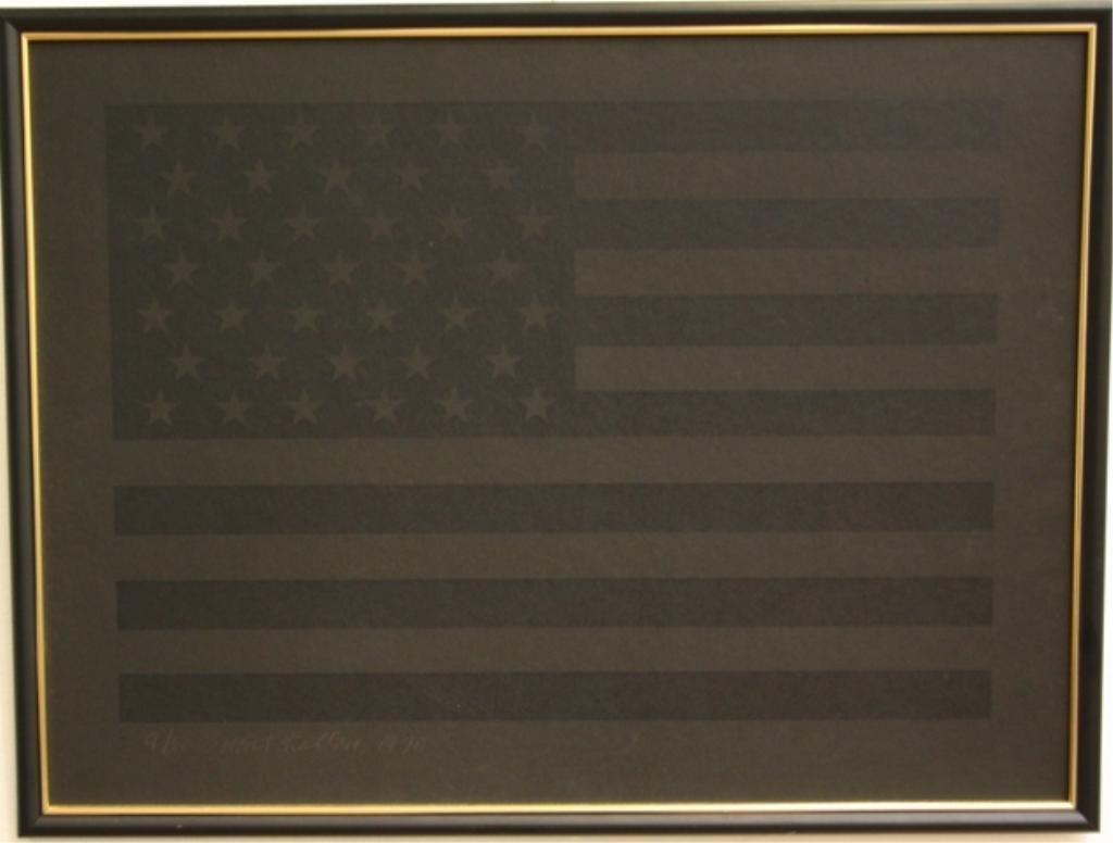 118: Mort Kallon Black Flag Lithograph 1970