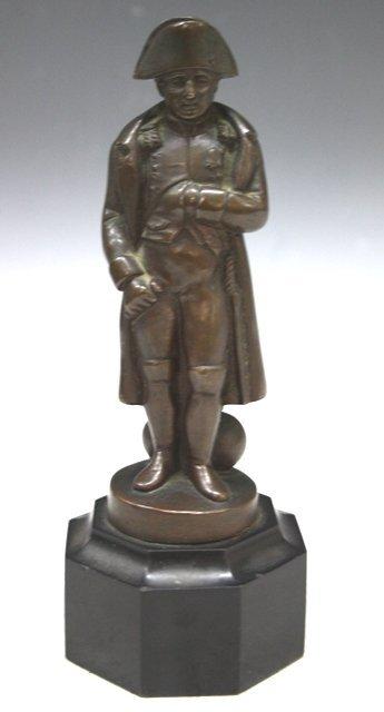 4: Napoleon Bronze Figure Sculpture on Pedestal