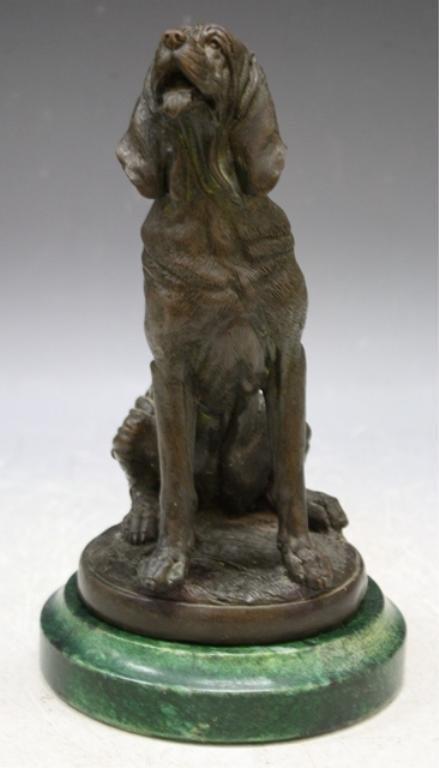 5: P. J. Mene Bronze Dog Sculpture French 19th C.