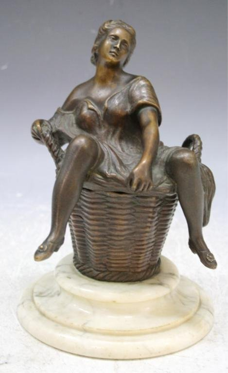 6: Bronze Erotica Sculpture French Early 20th C.