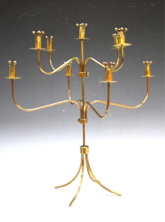 18: Brass Crowns Candelabra 1950s